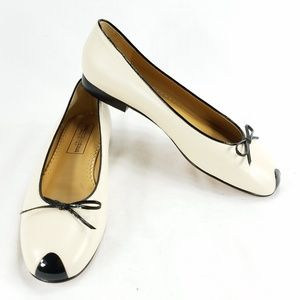 Saks Fifth Avenue Womens Leather Ballet Flats